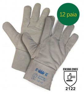 REINFORCED BOVINE CRUST WORK GLOVES WITH 7 CM SLEEVE
